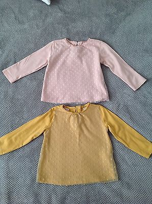 Zara Girls Two Long Sleeve Tops 18-24 Months