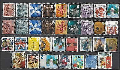 British stamps mixed collection of smilers, regionals and Christmas defins GB