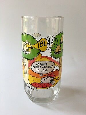 Vintage Peanuts Camp Snoopy McDonalds Drinking Glass Mint Charlie Brown