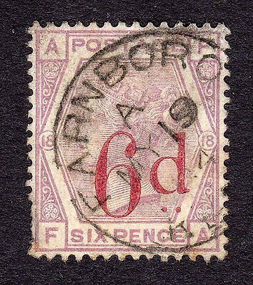 SG162   6d on 6d Lilac  Plate 18 - Wmk Imp Crown - Fine CDS Used (F-A)  Cat £150