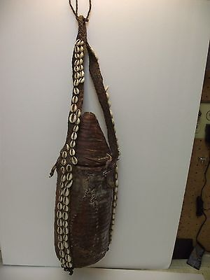Antique African , Ethiopian, Woven Leather Covered Container, Milk Jug,