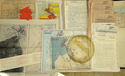 Wwii British Army Major's Maps, Italy Target Chart, Letters & Reports / Germany