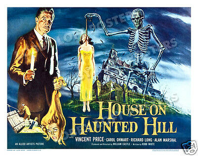 House On Haunted Hill Lobby Card Poster Hs 1959 Vincent Price William Castle