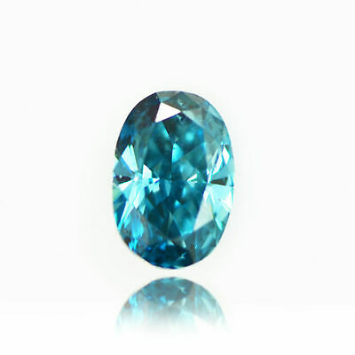 One Carat Oval Cut Fancy Blue VS2 Loose Enhanced Real Diamond For Wedding Ring