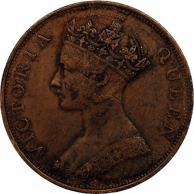 1865 Queen Victoria Hong Kong Large Cent