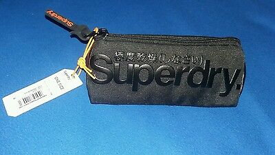 Superdry Diamond Tarp Tri Pencil Case One Size Black Case. New with tags.