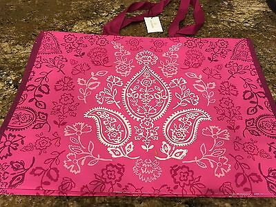 NWT Vera Bradley Market Tote in Stamped Paisley Pink Tote Recycled Shopper Bag