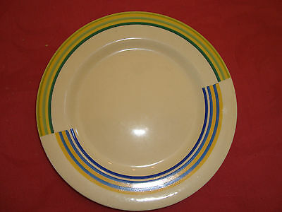 Clarice Cliff Plate (17.5cm diameter) in unknown pattern.