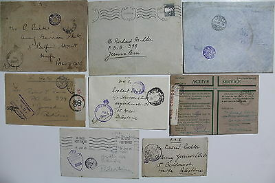 Palestine, Great Britain, Jewish Brigade, Lot of 8 MIlitary Covers  #a761