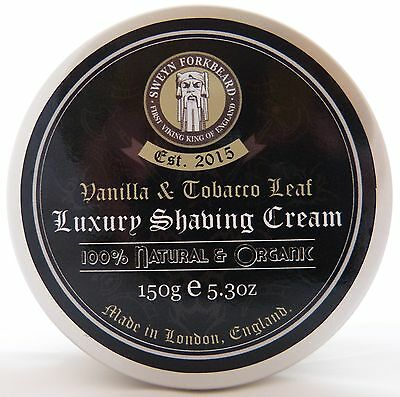 Shaving Cream Vanilla & Tobacco Leaf 100% Natural & Organic Handmade in London