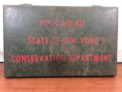 Vintage WWII 1940's First Aid Kit State Of New York Conservation Department