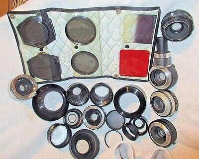 vintage photography camera Lens adapters mounts filters old 35mm film cameras