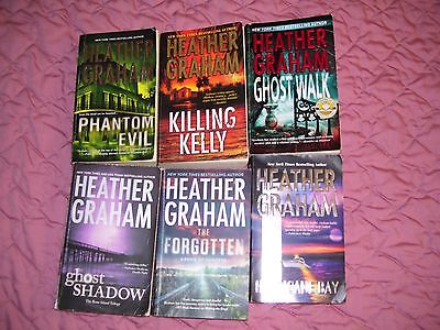 7 Heather Graham books. Used. Mystery, Suspense and Paranormal