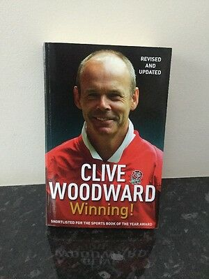 Signed Winning! by Clive Woodward Paperback 2005 Rugby England Lions World Cup