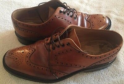 Mens Loake Leather 1880 Chester 2 Tan Smart Brogues Shoes Size Uk 8