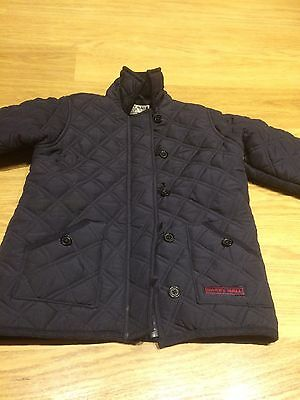 Harry Hall Quilted Navy Girls Coat Aged 7-8 Years Equestrian Pony Jacket Riding