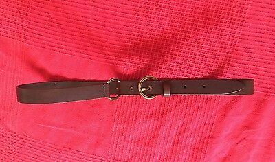 Massimo Dutti brown Leather looped Belt - size 80