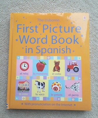 Usborne first picture word book in Spanish new