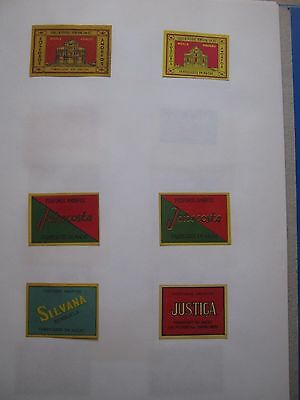 6 Old Chinese Matchbox Labels.