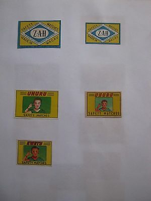5 Old Chinese Matchbox Labels.