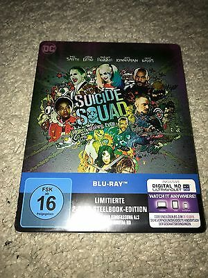 Suicide Squad Steelbook Blu Ray Limited 2-Disc Edition noch original verpackt