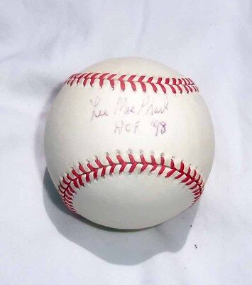 LEE MACPHAIL signed Official American League Baseball