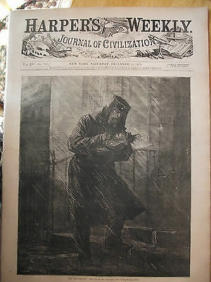 1871 Harper's Weekly Newspaper~ Western Settlers ~ Sandy Hook Boiler Camp
