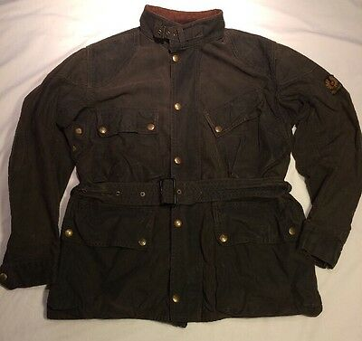 Vtg 1960s Belstaff Trialmaster Waxed Motorcycle Jacket Poor Condition