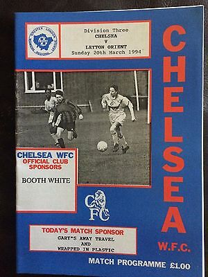CHELSEA LADIES v LEYTON ORIENT LADIES 1993-94 WOMENS GREATER LONDON  DIVISION 3
