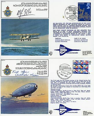 2 RARE First Day Covers, CONCORDE, CAPTAIN & FIRST OFFICER , SIGNED