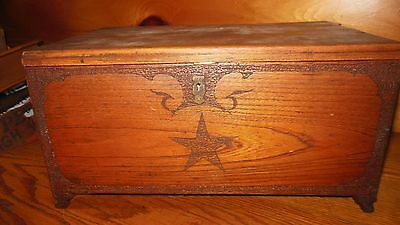 Vintage Wooden Handmade DOCUMENT BOX / EARLY Hand Carved BOX