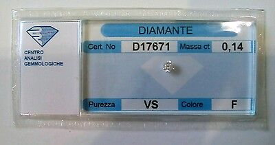Diamante naturale certificato in blister ct. 0.14 F VS
