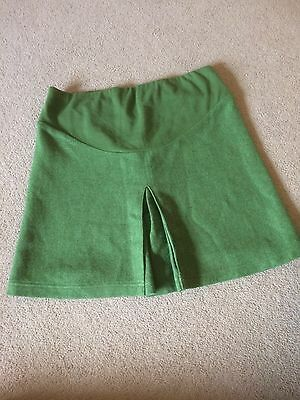 Jojo Maman Bebe Size 10 Green Tweed Maternity Pregnancy Skirt