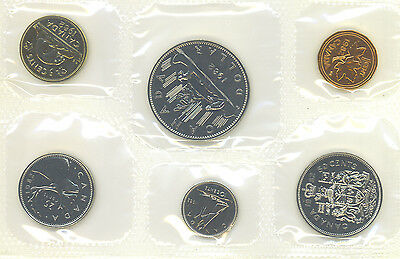 Canada 1982 Proof Like PL Coin Set Uncirculated COA Envelope