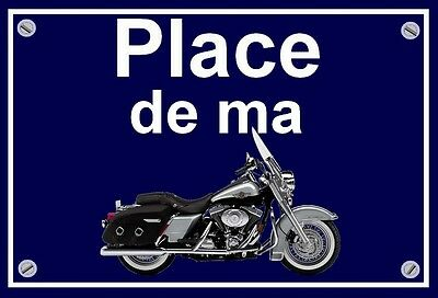 "plaque "" PLACE DE MA HARLEY DAVIDSON ROAD KING """