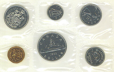 Canada 1983 Coin Set  Proof Like PL Set COA Envelope