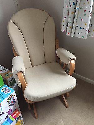 Nursing maternity gliding rocking chair with gliding footstool
