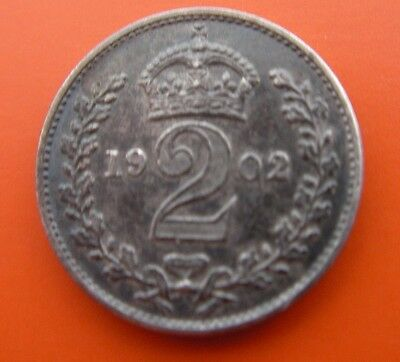 MAUNDY SILVER 2d TWOPENCE 1902 EDWARD Vll
