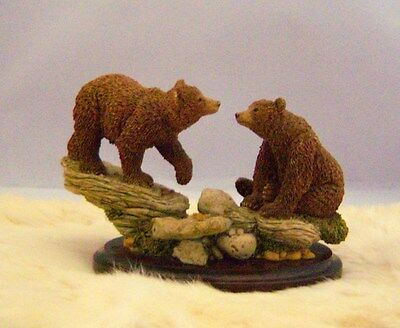 """BEARS PAIR 3.25"""" tall Country Artists Handcrafted (Stratford-England)"""