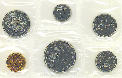 Canada 1986 Proof Like PL Coin Set UNC COA Envelope