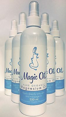 X5 250ml Pure Organic Magnesium Oil HIGH CONCENTRATION 100% FREE POST