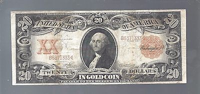 Rare Series 1906 $20 Gold Coin Note United States Gold $20 Bill Gold Certificate