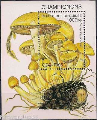 Guinea 1995 Mi block 500  Sc 1336 MNH Mushrooms Fungi Champignons Nature Plants