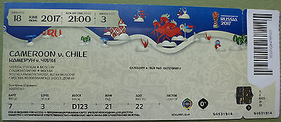 Ticket 2017 Fifa Confed Cup #3 Cameroon - Chile Kamerun Chile 18.06.17 MINT