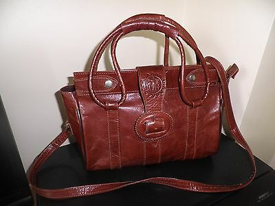 Moroccan Tan Brown Real Leather Bag