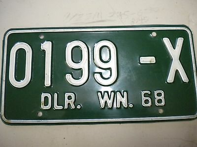 1968 Washington Dealer License Plate