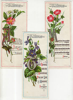St. Nicholas Dept. Store Of Providence Tradecards, Flowers, Addison, Shakespeare