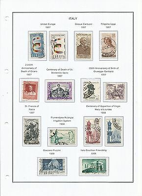 Italia 1957-1959 Colección Mixta Mixed Collection Mint Hinged/used (6 Scans)