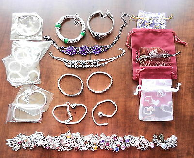 Wholesale Lot Of Bracelets And Charms - C1