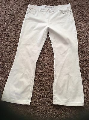 Womens White Jeans Bootcut Size 16